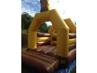 Teddy bear bouncy castle