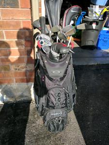Golf Push Cart and Gold Cart Bag