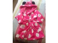 Minnie Mouse dressing gown 9-12 months