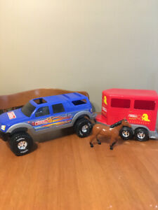Tonka rodeo truck with horse trailer and horse