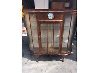 Original Vintage china wear display cabinet