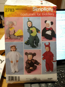 Toddlers Costume Pattern - Simplicity 2783