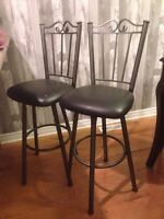 2 bar stools  Grey and black