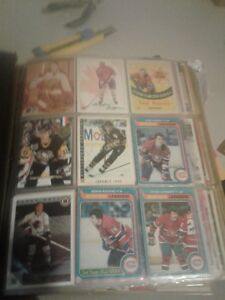 700 plus hockey cards old ones some signed