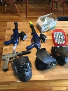Kit complet de paintball 3 guns + équipement