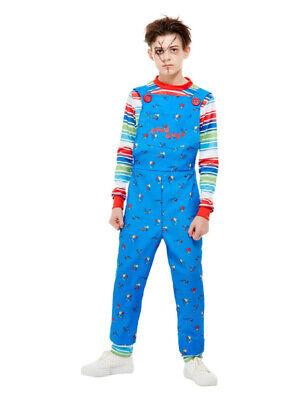 Chucky Kostüm Kinder Blau mit Latzhose und Oberteil - Chucky Kinder Kostüm