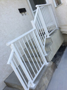 REduce PRICE supply and install WELDED aluminum railing epoxy po
