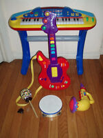 Musical Toys:Digital Piano DJMixer /Guitars/ Drums for Toddlers