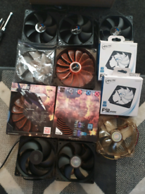 PC Computer Fans x12 New Corsair, Arctic Cooling, Cooler master, etc..