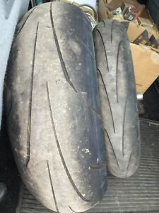Dunlop Q3 Front and Rear Tires