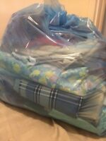 Bag full of fabric