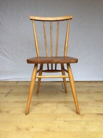 vintage Ercol 391 1950s 1960s desk dining chair