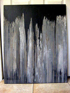Modern Abstract Canvas painting London Ontario image 5
