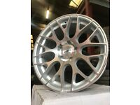 "18"" calibre alloy wheels Alloys Rims BMW 1 2 3 series vauxhall insignia 5x120 staggered"