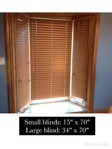 Brown faux wood blinds!
