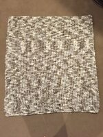Handmade knitted throw