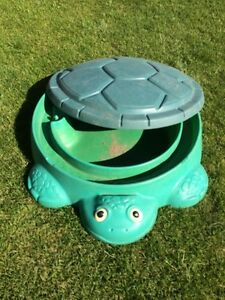 Kids turtle sandbox