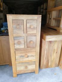 Oak Furniture Land Mantis Solid Mango Tallboy Chest of Drawers