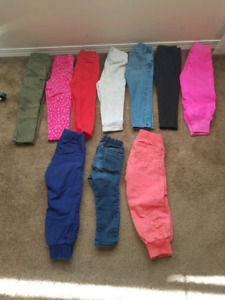 Lot of girl pants size 2 years