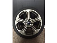 MK7 Fiesta ST Rado Grey Alloy Wheel with Bridgestone Potenza tyre