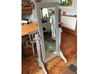 Beautiful Shabby Chic Full Length Bevelled Mirror