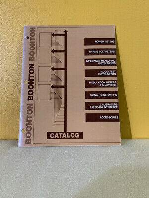 Boonton Power Meters Audio Analyzers Generators Test Measurement Catalog