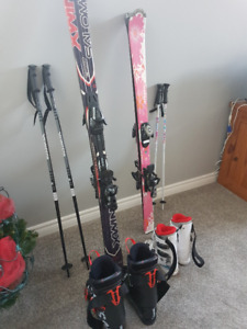 Girls Ski Package (skis, bindings, boots and poles)