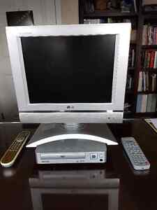 LCD Flat Screen TV and DVD Player
