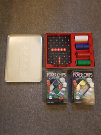 M&S Poker Set with 2 Boxes of Professional Poker Chips!