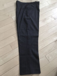 STRIPED BLACK PANTS/ 32 INCH WAIST