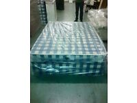 Double divan with mattress