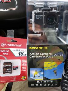 Safari Action Camera with memory card