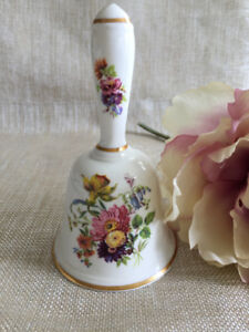 ENGLISH BONE CHINA DINNER BELL
