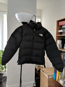 XS black womens north face down bomber jacket