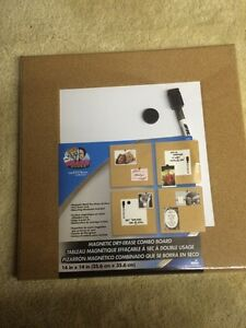 New: magnetic dry erase combo boards