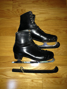 Mens / Boys Knebli Black Figure Skates Size 11