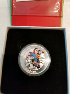 Superman and star trek silver coins