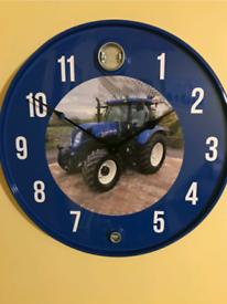 Ford massey john deere castrol cat Oil drum clock Volvo scania tractor