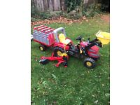 Rolly large tractor and trailers