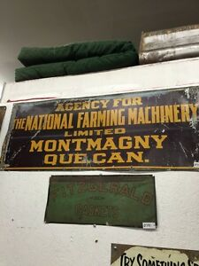 VINTAGE METAL National Farm Machinery sign