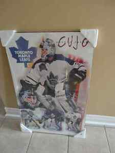 Curtis Joseph Toronto Maple Leaf Wooden Panel Print Wall Hanging