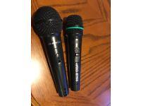 2 xlr mics - peavey pv100 & pro dj