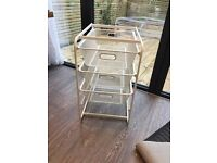 IKEA wire storage drawers (white) very good condition
