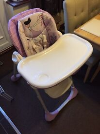 Chicco Polly 2 in 1 adjustable high chair