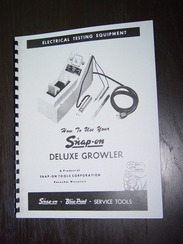 Details About Snap On MT 326 Growler Armature Tester Manual