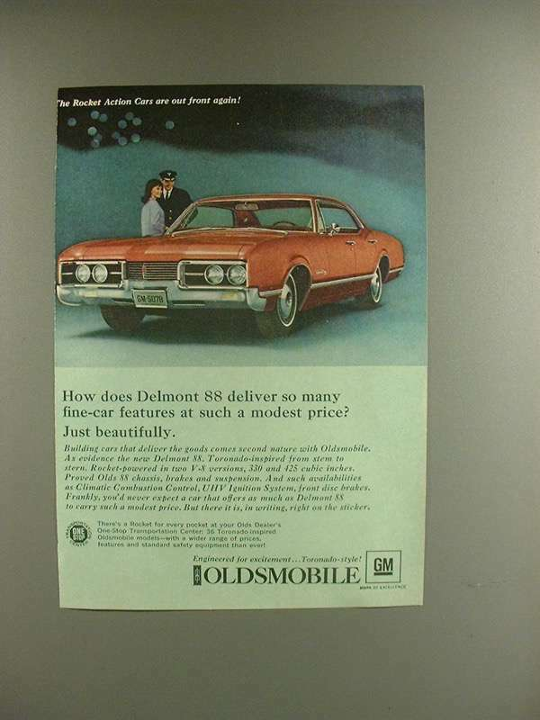 1967 Oldsmobile Delmont 88 Car Ad - Just Beautifully