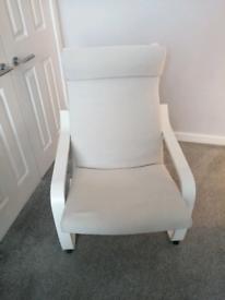 White comfortable chair