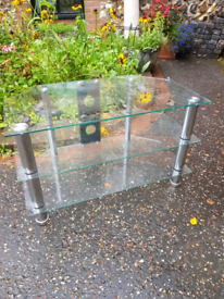 TV and Stereo Glass Stand