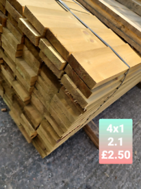 VARIED SIZES FENCE BOARDS AND JOISTS