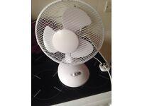 Small desk top fan